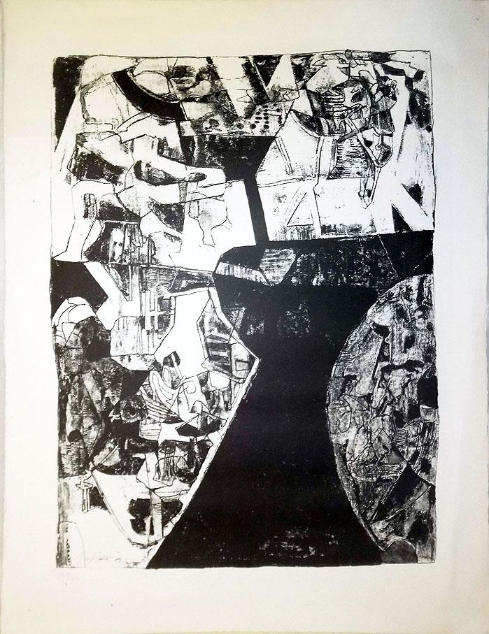 Joseph Fassbender Kestner Gesellschaft 1962 60 x 79 cm