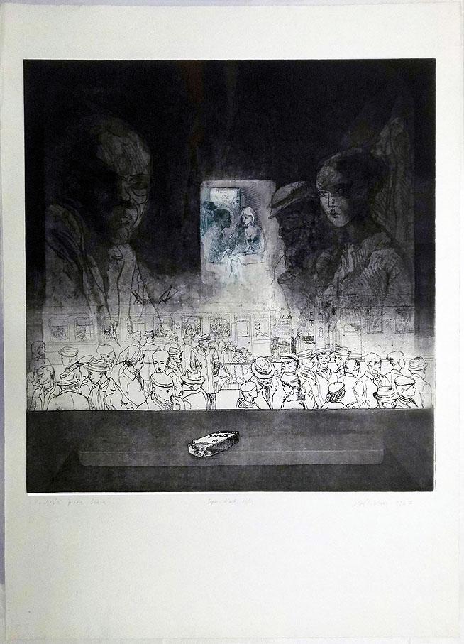 Radierung 1967 55 x 76 cm