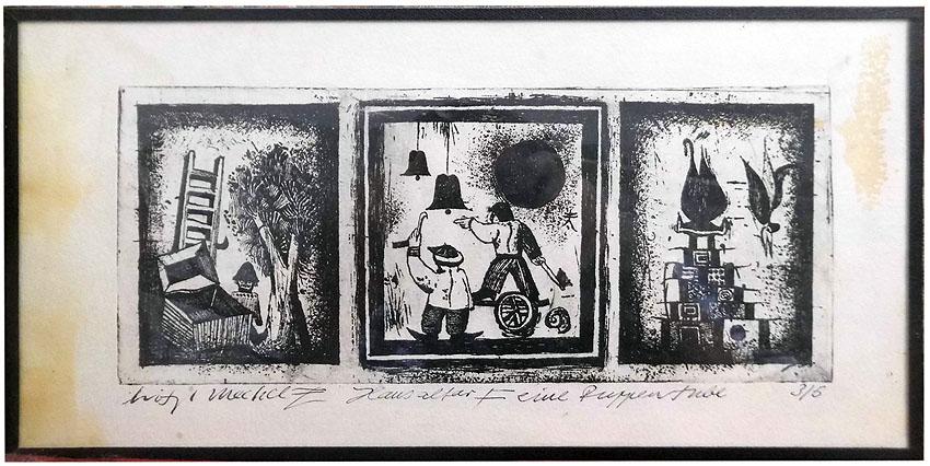 Christoph Meckel Radierung 34 x 17 cm