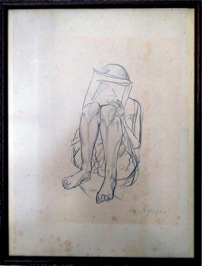 Bleistiftzeichnung Jahrhundertwende 31 x 41 cm
