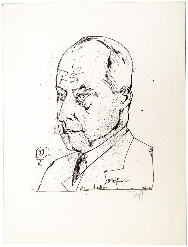 Horst Jansen Köpfe 2/6