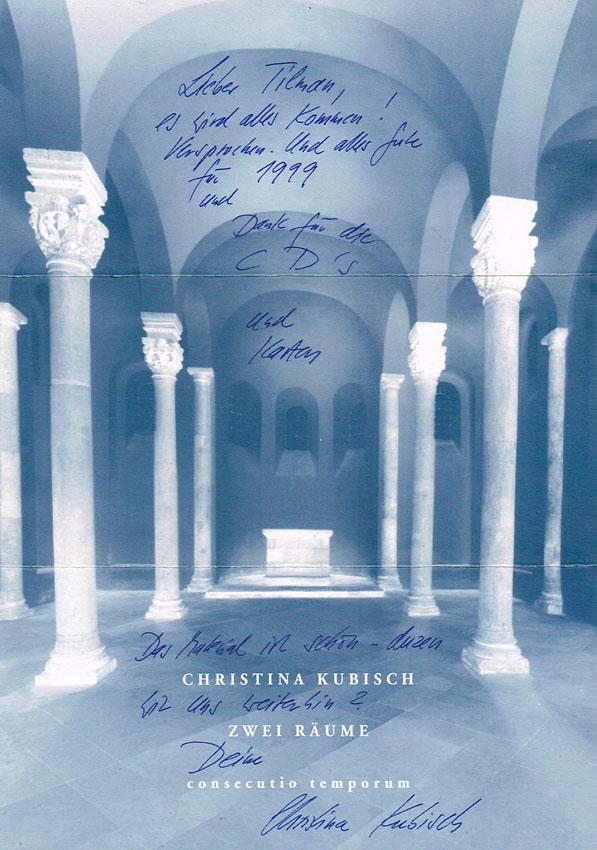 Christina Kubisch 1999