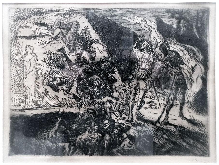 Max Slevogt 'Gretchens Erscheinung' Radierung 1924 20 x 15 cm