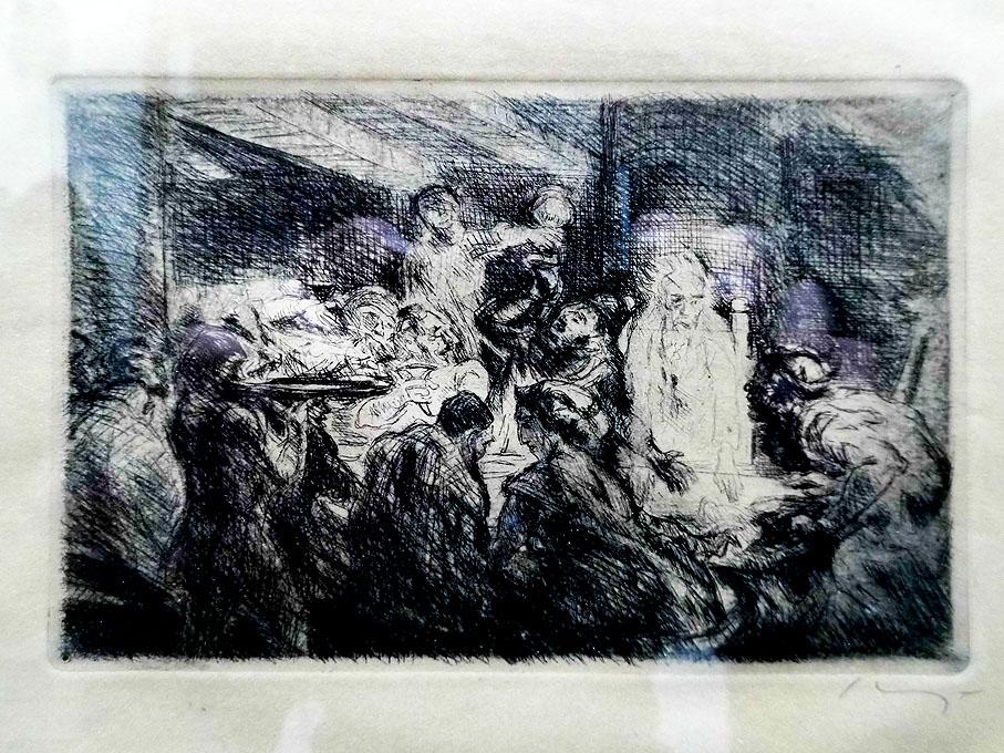Max Slevogt 'Banquos Geist' 1924 Radierung 14 x 9 cm