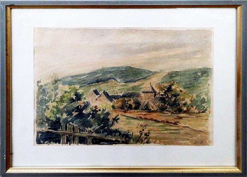 Aquarell auf Papier K.R. 29 x 23 cm
