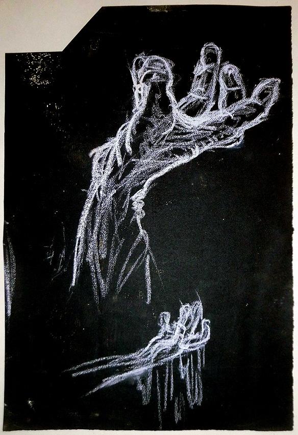 Kreide auf Papier 24 x 35 cm