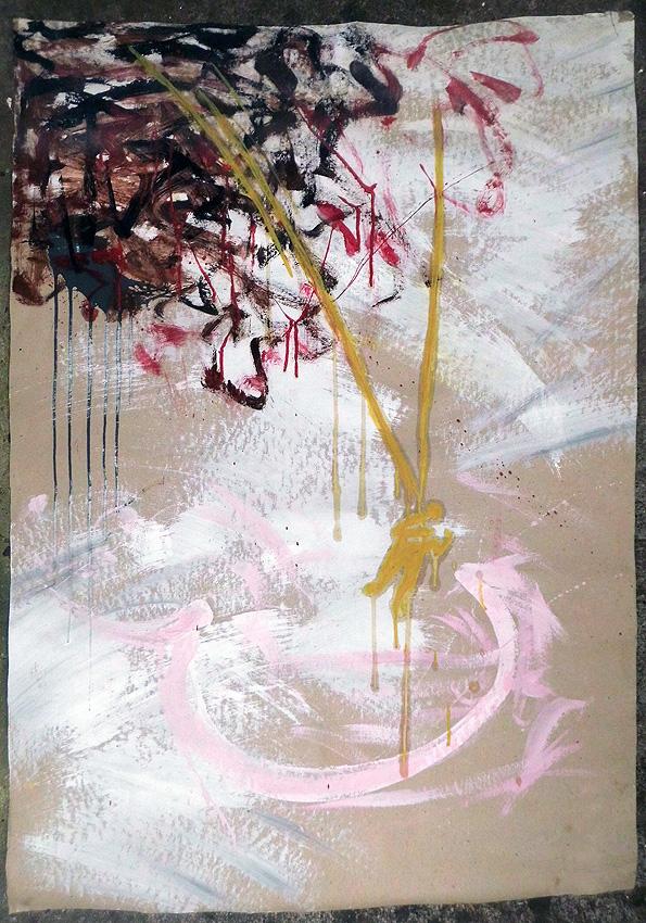 Dispensionsfarbe+Eitempera auf Karton 82 x 118 cm