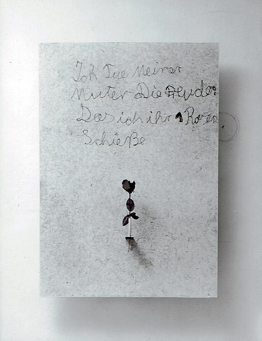 Rose Repro auf Holz, Seidenrose Size: 120 cm x 85