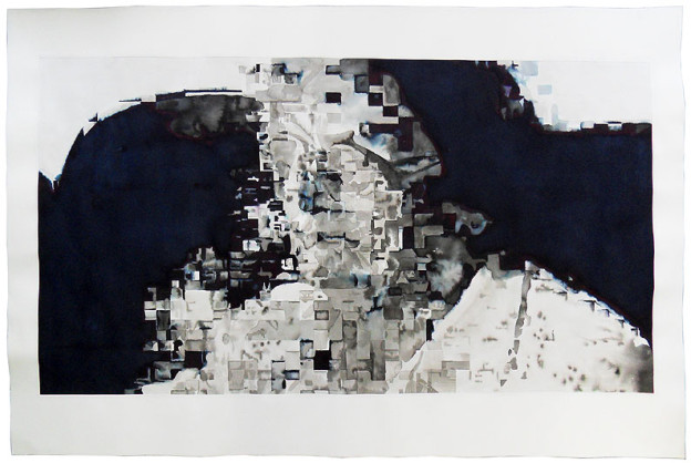 Mother don't cry I 2012, Ink and indian ink on paper, size: 120 x 80 cm
