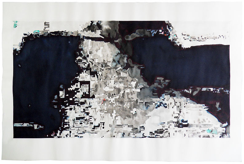 Mother don't cry III 2012, Ink and indian ink on paper, size: 120 x 80 cm