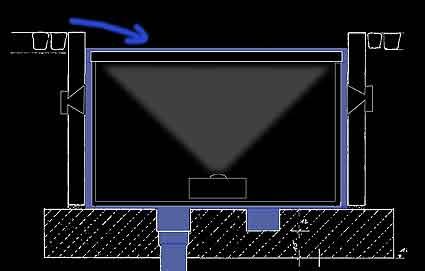 Installation der Lautsprecher.