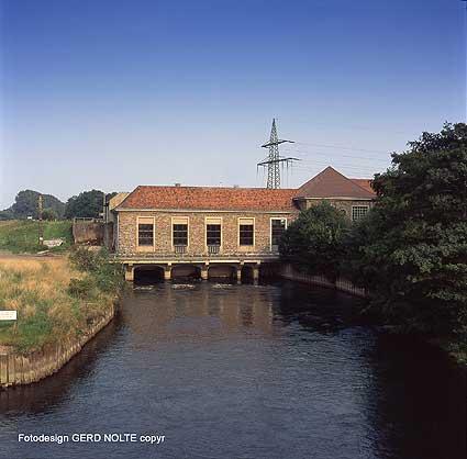 Das Wasserkraftwerk an der Ruhr.