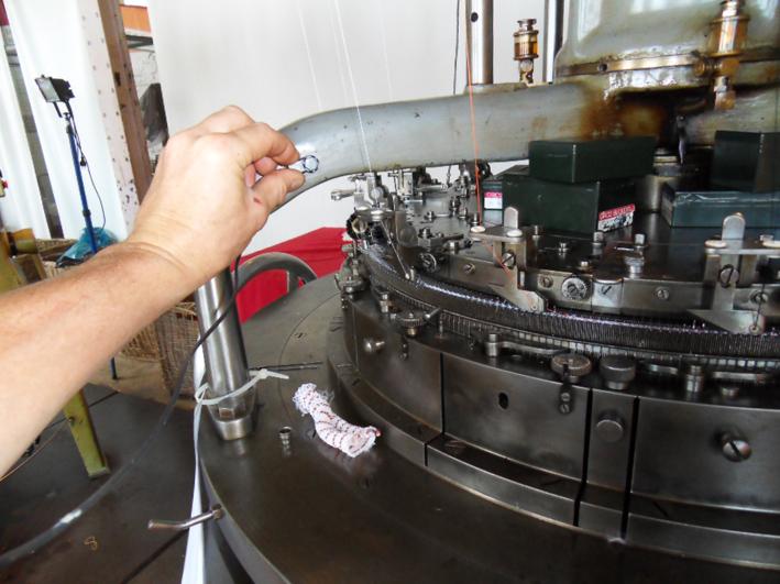 Strickmaschine im TextilWerk Bocholt 2014