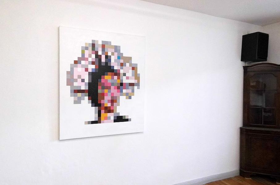 Miss Pixel, oil on canvas 2014 Size: 100 cm x 120 cm