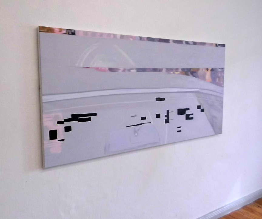 Graubild, oil on canvas 2015, size: 86 x 171,5 cm