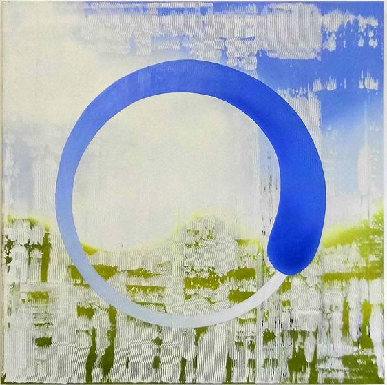 Wartebild I, oil on canvas 2017, size: 100 x 100 cm