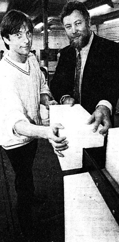 Galerie Grenzraum Frankfurt/Oder 1995 mit Bürgermeister