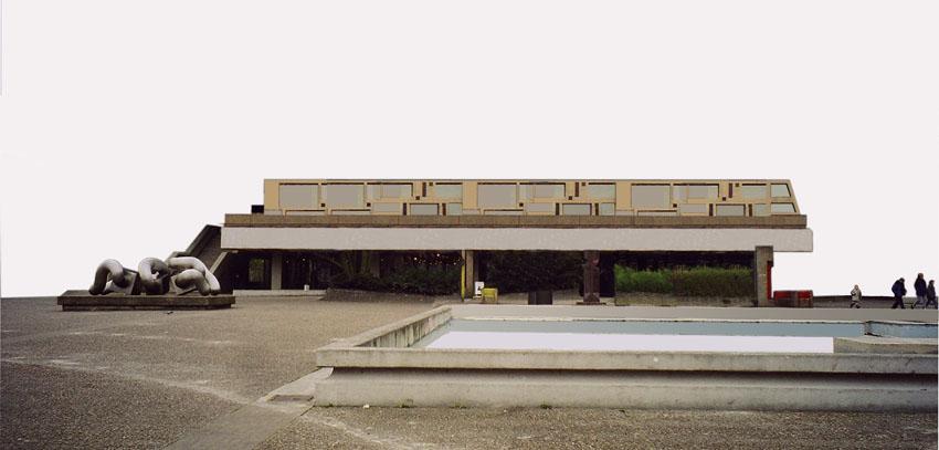 Das Gebäude als eigenständiges Bauwerk ohne Berührung zum Faltdach