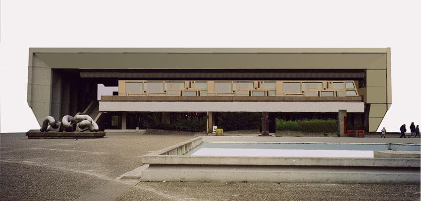 Das Faltdach als eigenständiges Bauwerk ohne Berührung zum darunter liegendem Gebäude