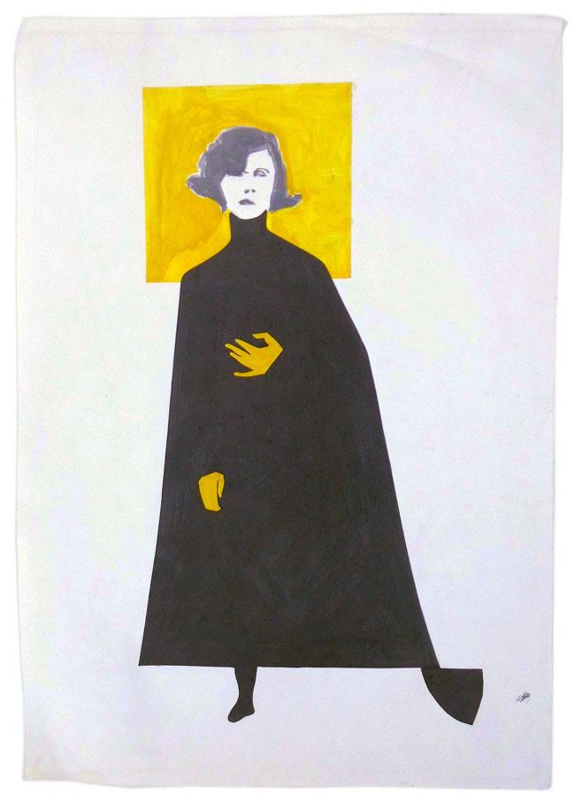 Frau mit Lodenmantel 61 x 87 cm